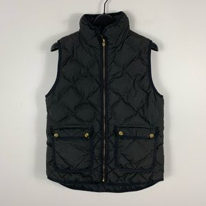 J.Crew women's quilted puffer vest jacket black